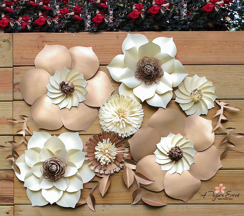 Best paper flower wedding centerpieces photos styles ideas 2018 designs paper flowers paper flower backdrops weddingevent decor mightylinksfo