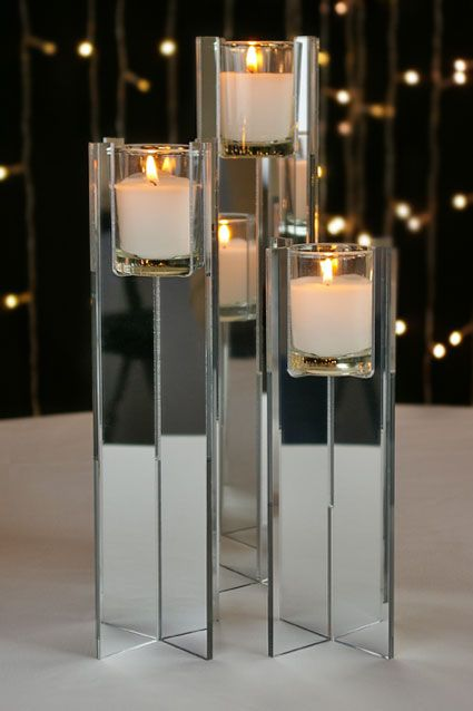 Mirrored Votive Candle Risers Candle Holders Mirror Candle Holders Candleholder Centerpieces