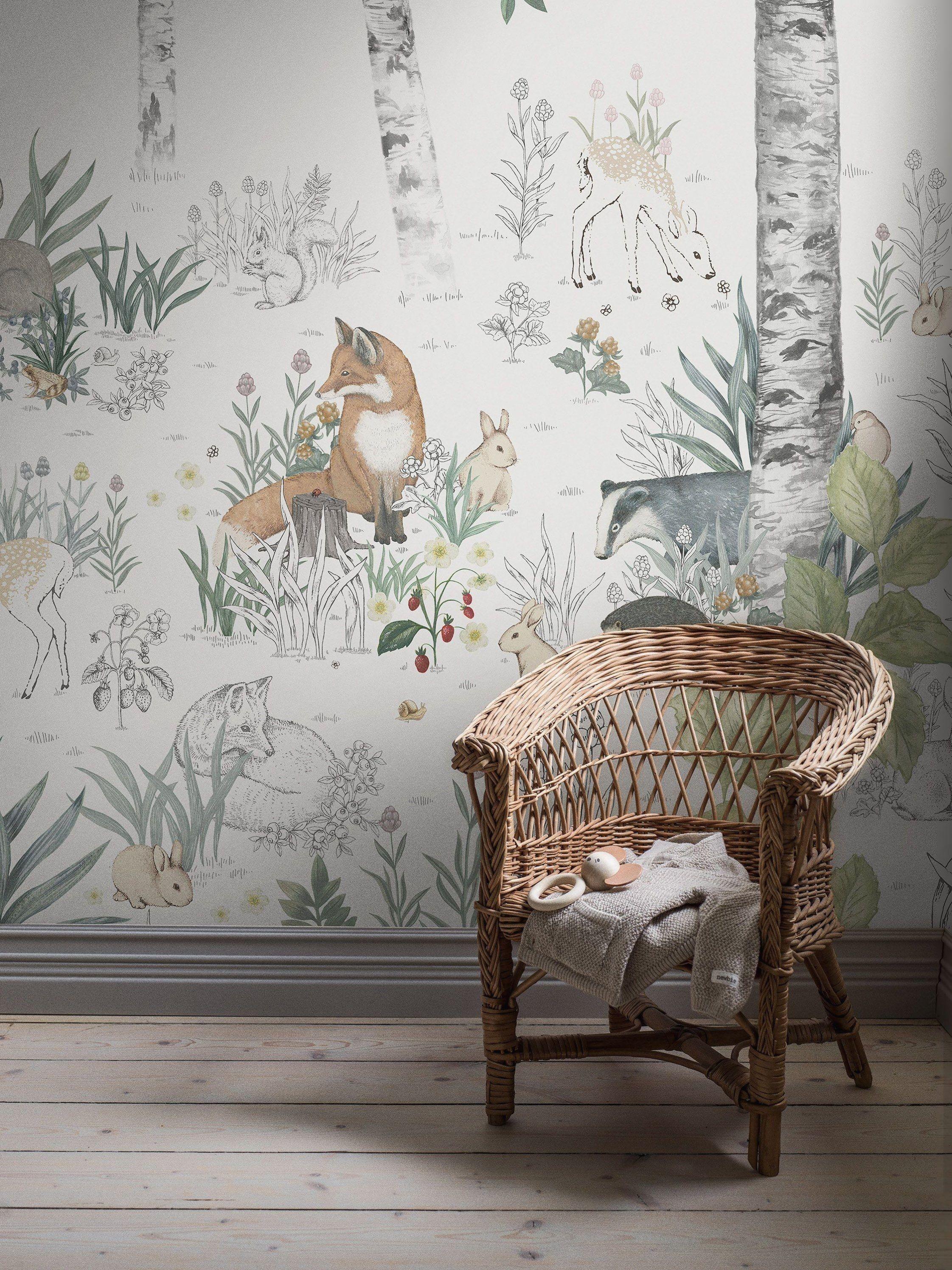 papier peint magique foret murale 7481