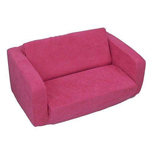 Flip Open Sofa For Kids   Convertible Children Soft Upholstered Futon Bed    Toddler Room