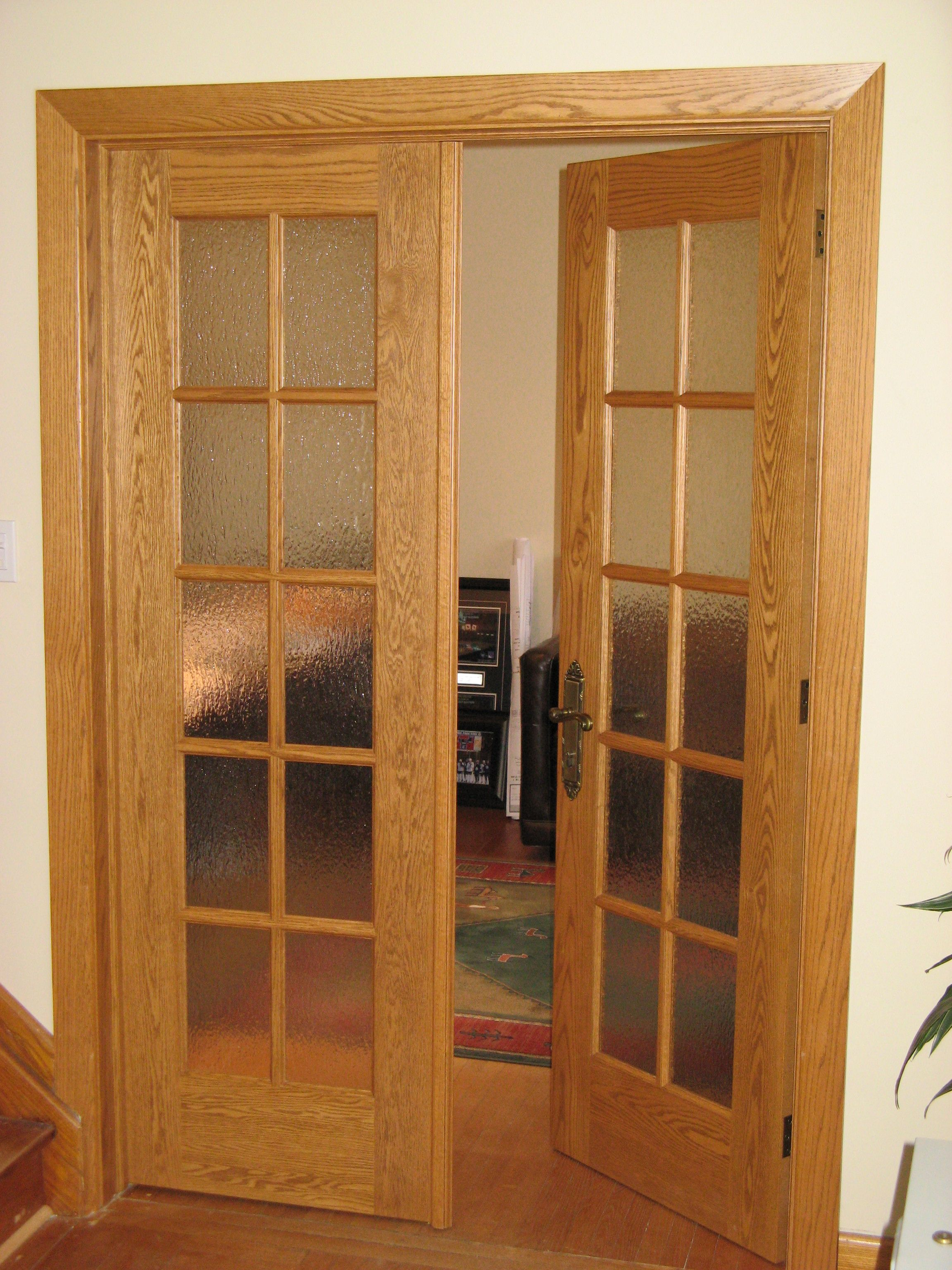 This Is A Stunning Amberwood Interior 10 Light Flat Sawn White Oak French Door Opening Into A Den Doors Interior Custom Wood Doors Oak French Doors