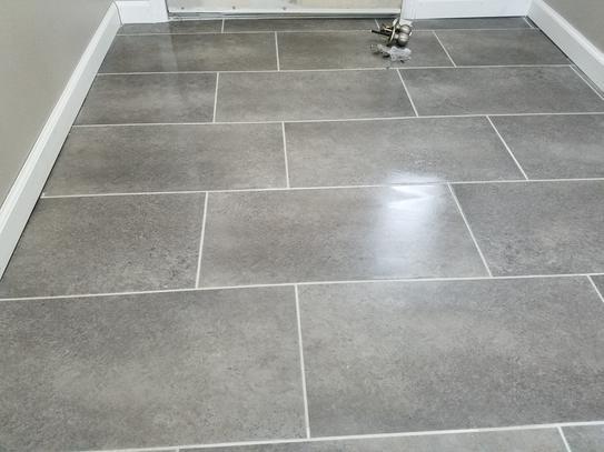 Trafficmaster Ceramica Flooring : Trafficmaster ceramica in coastal grey vinyl