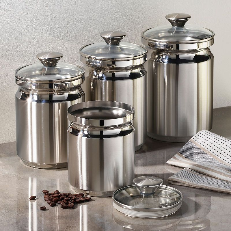 Tramontina Gourmet 8-pc. Stainless Steel Canister Set in ...