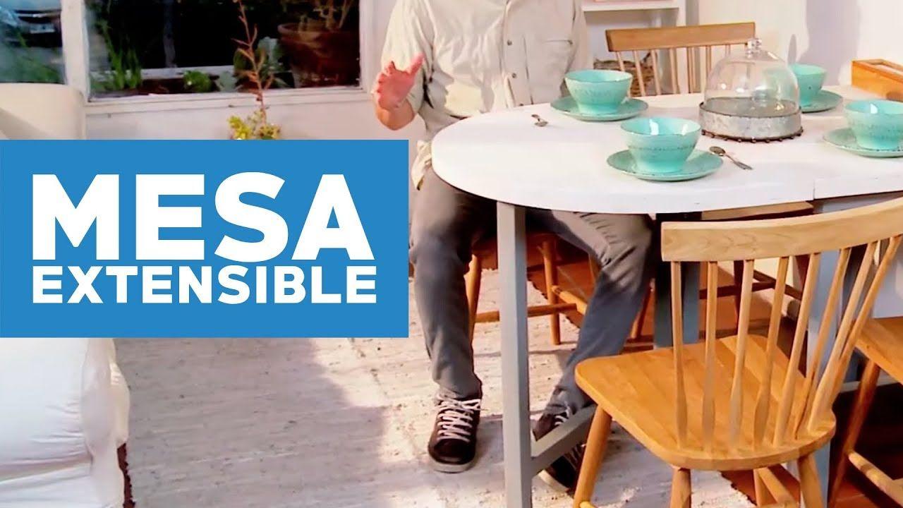 Cómo hacer una mesa de comedor extensible (con imágenes