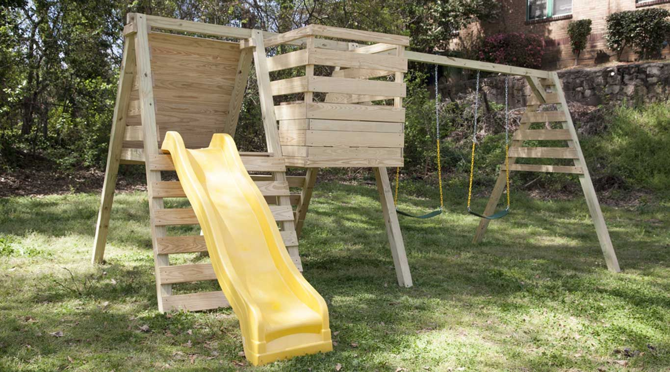 Playset YellaWood Backyard for kids, Backyard playset