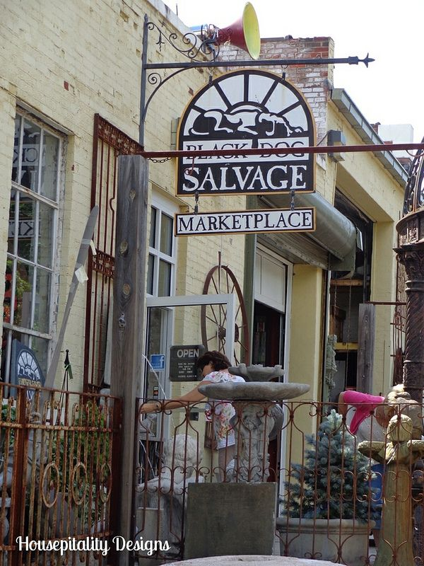 Architectural Salvage Heaven Black Dog