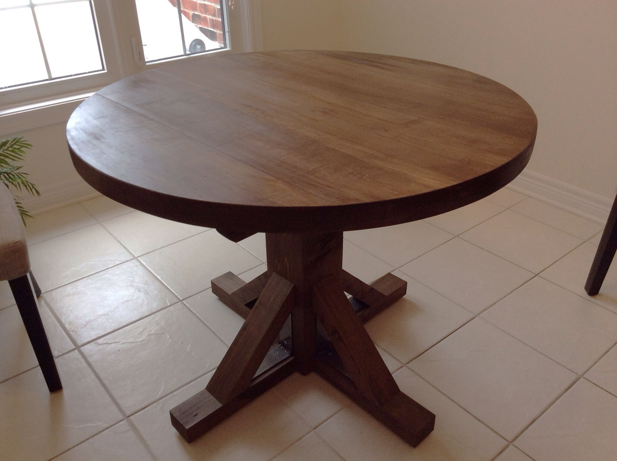 Glenn Built This For A Couple S Kitchen Metal Furniture Furniture Dining Table [ 1529 x 2048 Pixel ]