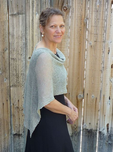 Free Knitting Pattern For Capelet Wrap That Fastens In The Back