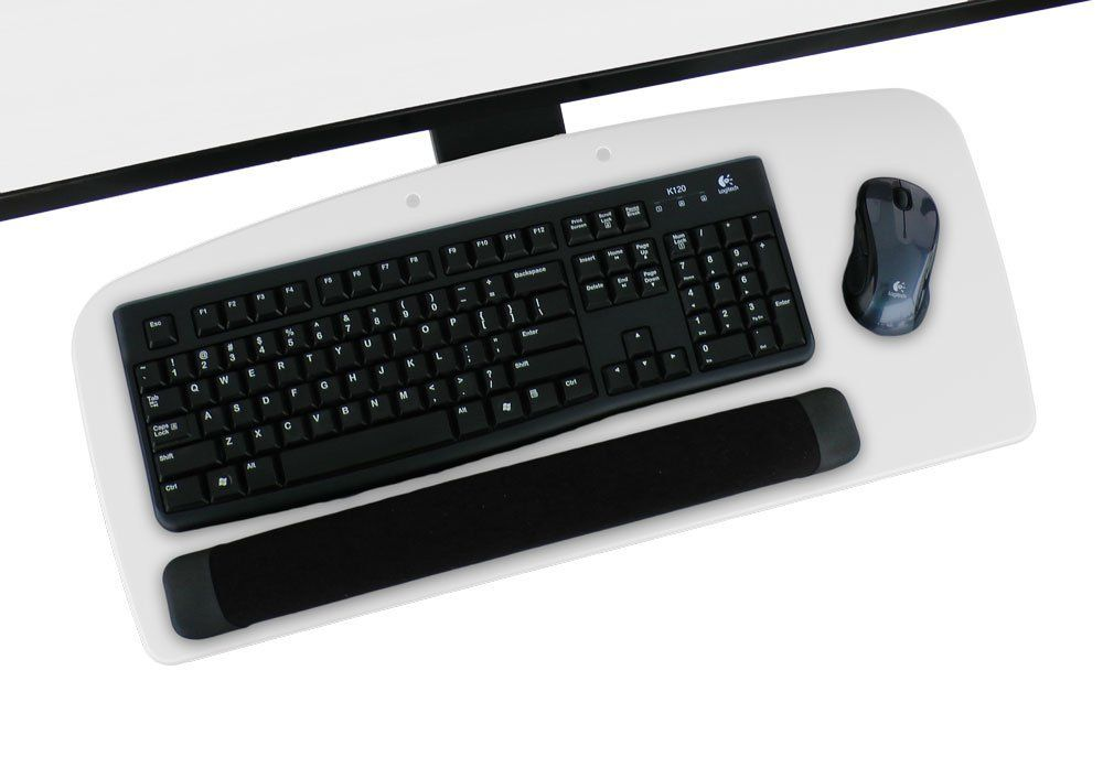 79 Amazon Com 25 W 11 1 8 X 17 3 4 Vivid White Under Desk Ergonomic Keyboard Tray With Wrist Rest 17 Tr Office Furniture Accessories Ergonomics Keyboard
