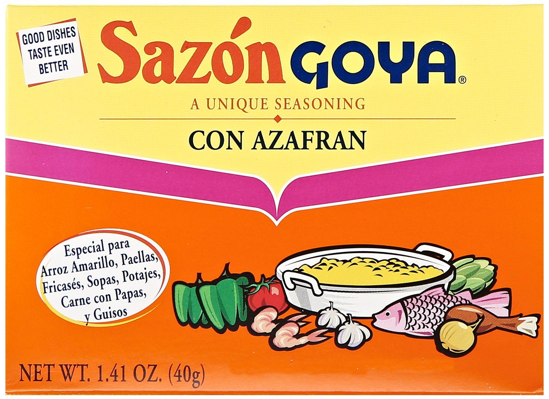 Goya Sazon Azafran Seasoning (1.40z)