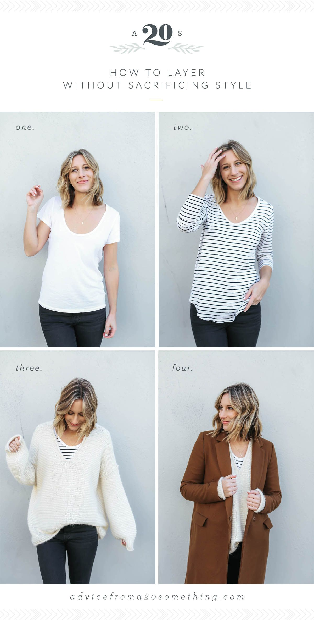 cbee6ded9d26b how to layer without sacrificing style, outfit layering ideas, fall outfit  ideas, winter outfit ideas, striped tee, oversized sweater Free People, ...