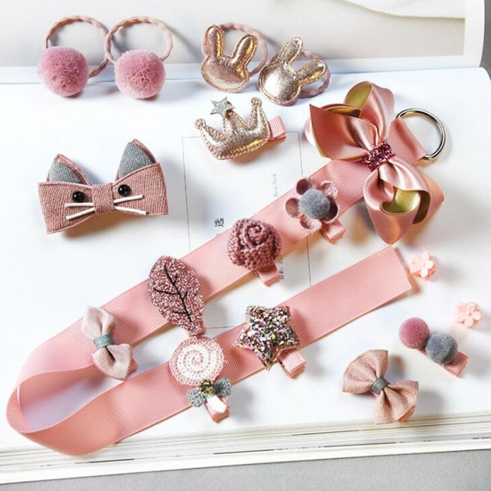 5/10/18 Pcs/Set Unique Baby Hair Clips, Headbands & Hair Accessories » Blu Bambina