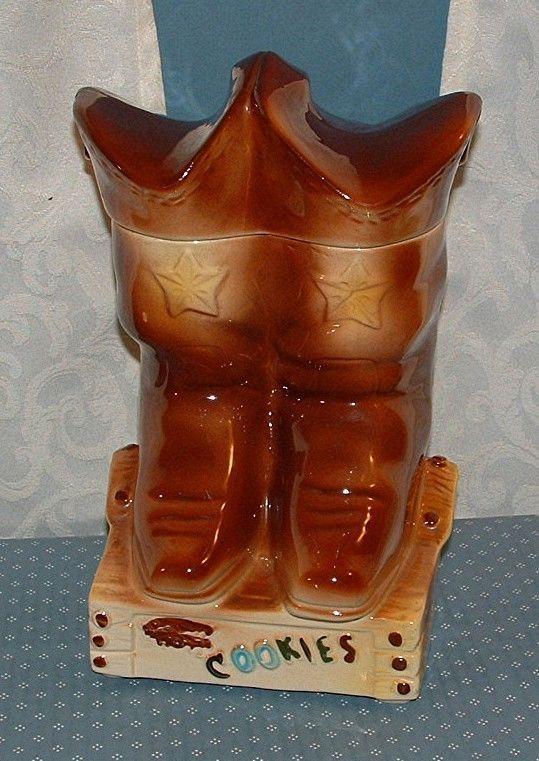 b311878cfe9 1950'S COWBOY BOOTS COOKIE JAR - AMERICAN BISQUE - EXCELLENT ...