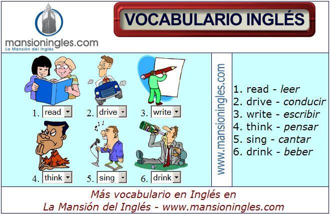 Vocabulario En Ingles De Actividades Vocabulario Vocabulario En Ingles Vocabulario Ingles Espanol