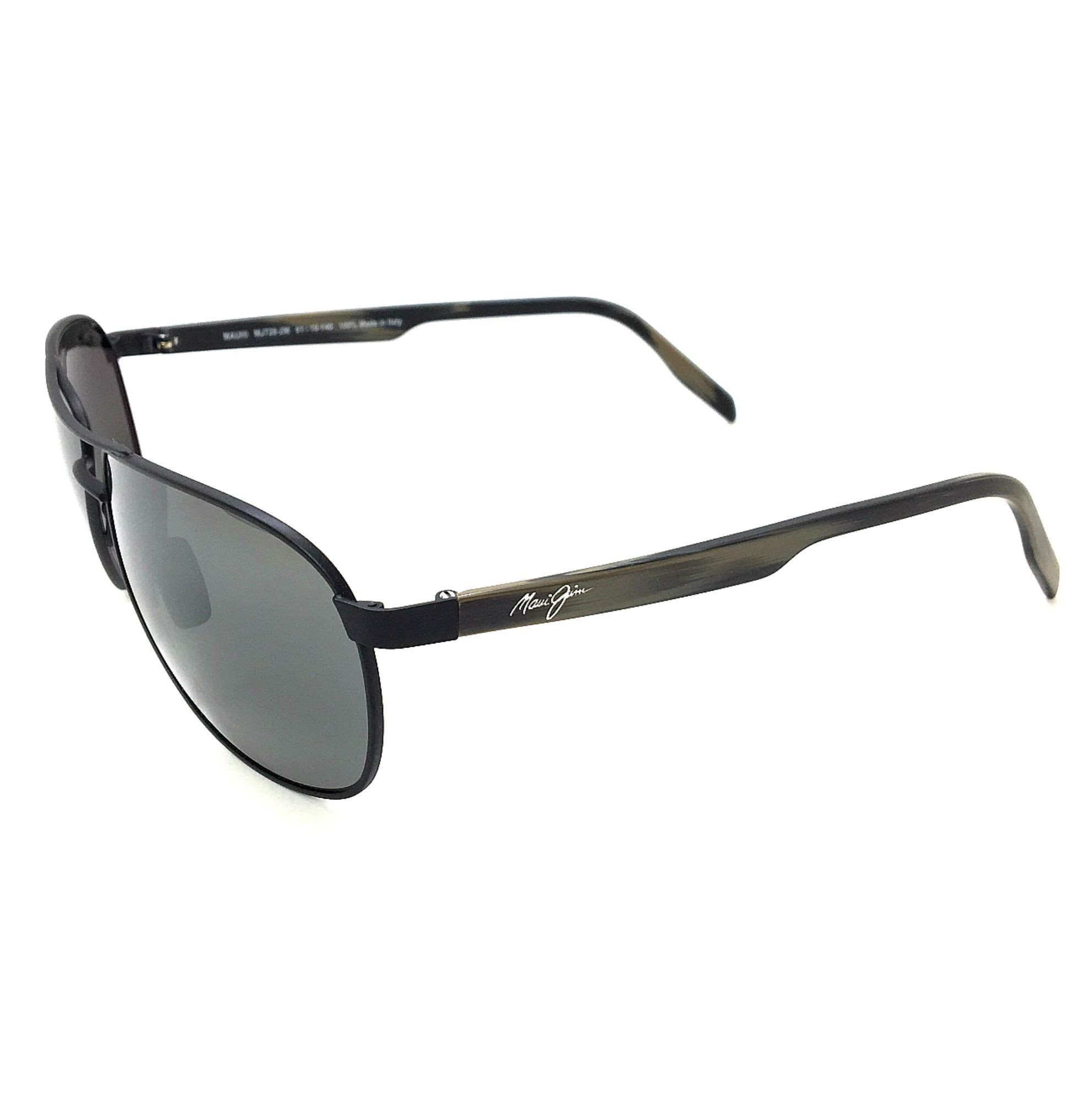 8151b1f22ad4 Maui Jim Castles 728-2M Matte Black/Neutral Grey Polarized Sunglasses