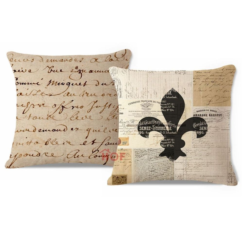 Set of 16 Throw Pillow Cover HEAVY WEIGHT French Country Fleur de ...
