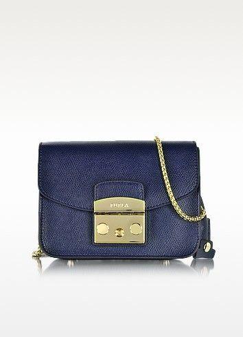 dd715d85dd FURLA Metropolis Mini Navy Blue Leather Crossbody Bag.  furla  bags  shoulder  bags  leather  crossbody