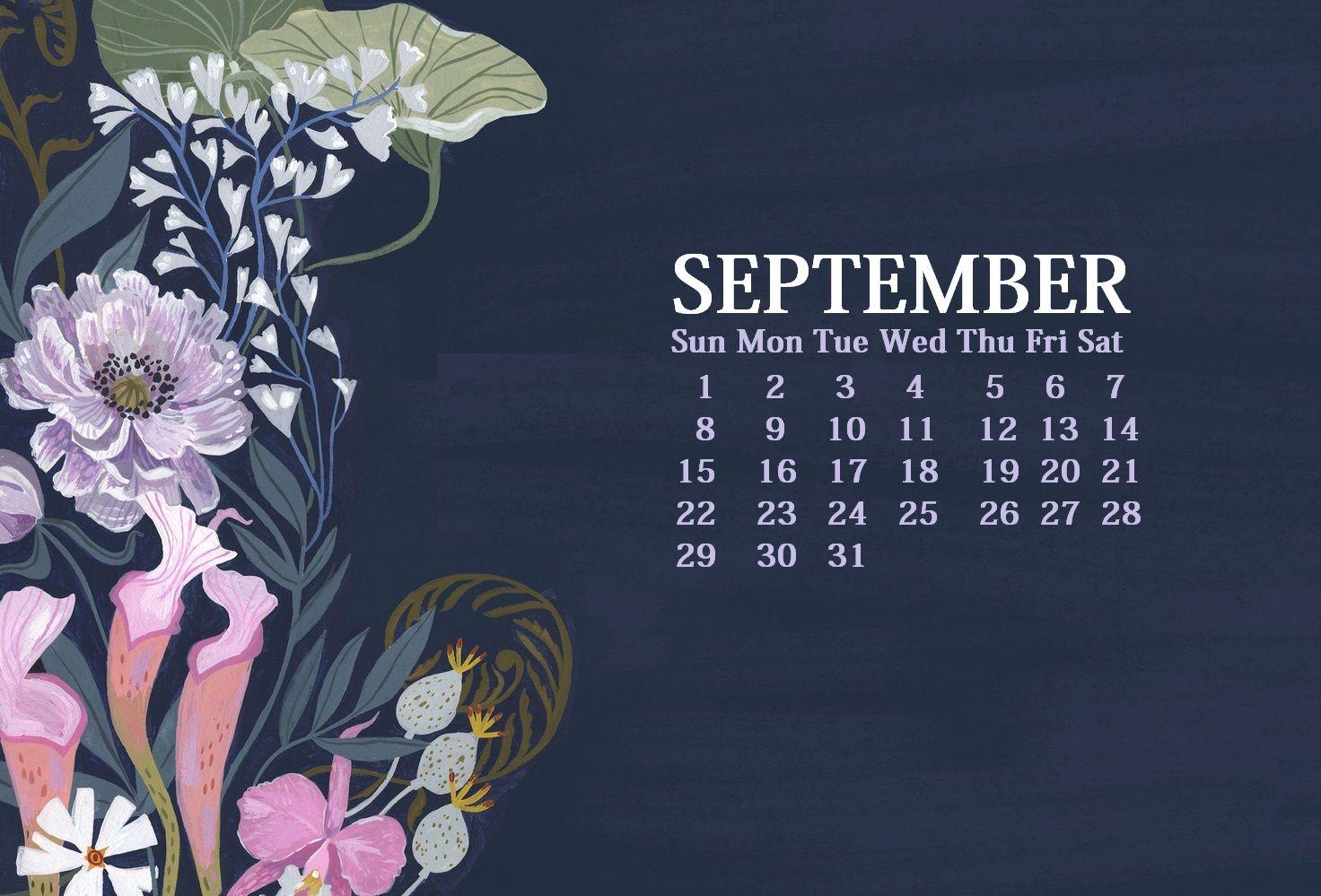 September 2019 Hd Calendar Wallpaper Calendar Wallpaper September Calendar Desktop Calendar