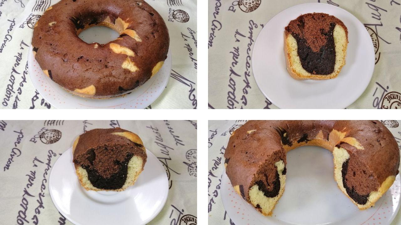 Marble Cake With Cocoa Powder Using 2 Eggs كيكة رخامية ب3 ألوان طريقة عمل الكيك الرخامي بالكاكاو Food Marble Cake Desserts