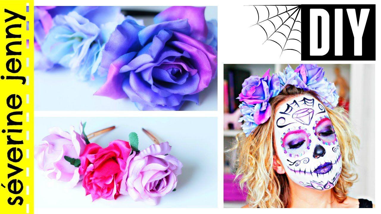 DIY français Halloween  Couronne de fleurs Sugar Skull