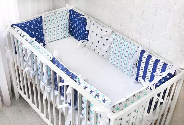 Бортики в кроватку для новорождённых, фото и особенности ...
