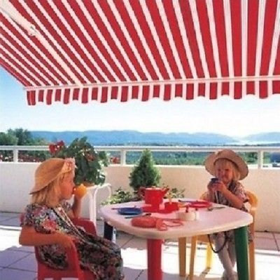 Wonderful Retractable Patio Awning Manual 10 X 8 Sun Rain Protection Many Colors Deck  New