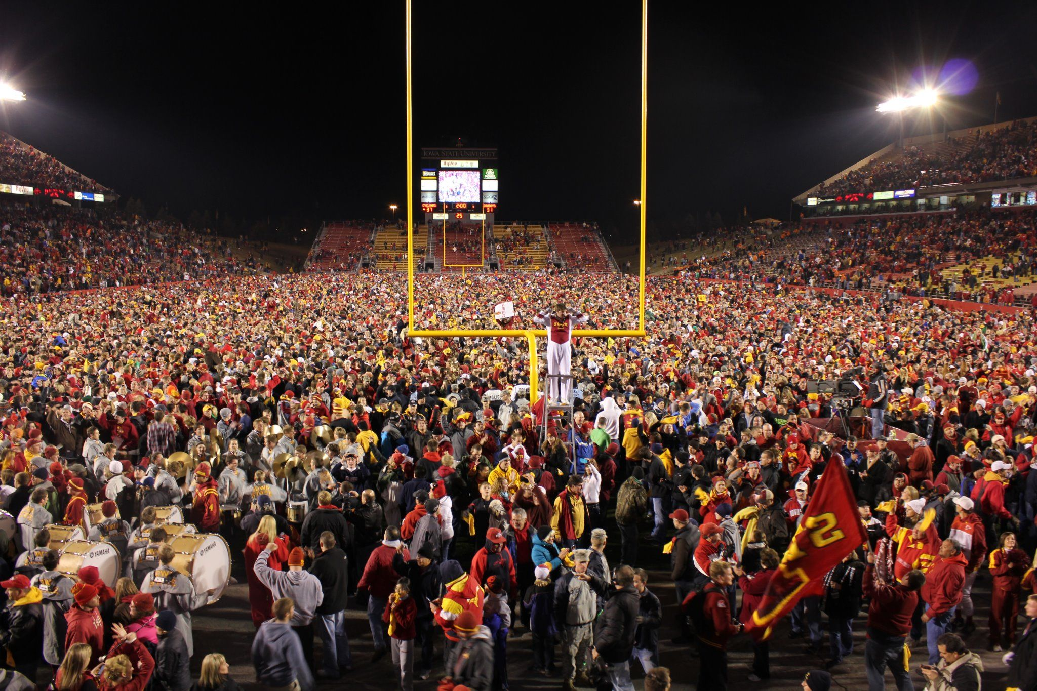 For all those Iowa State Cyclone Fans out here on Pinterest! Iowa State Upsets #2 Oklahoma State at home. Student Today, Alumni Forever, Fan for Always. <3