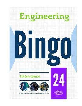 Engineering Bingo Fun Stem Activity Career Exploration Game