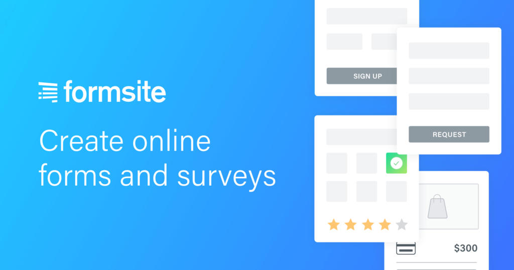 Easily create online forms and surveys using our HTML form