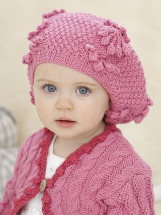 62d82ed12 Little Cherry Beret from The Second Little Sublime Baby Cotton Kapok ...