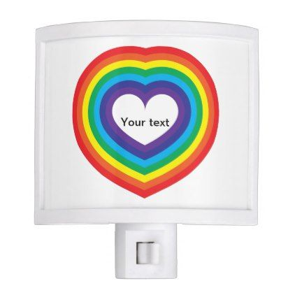 Rainbow Heart Night Light