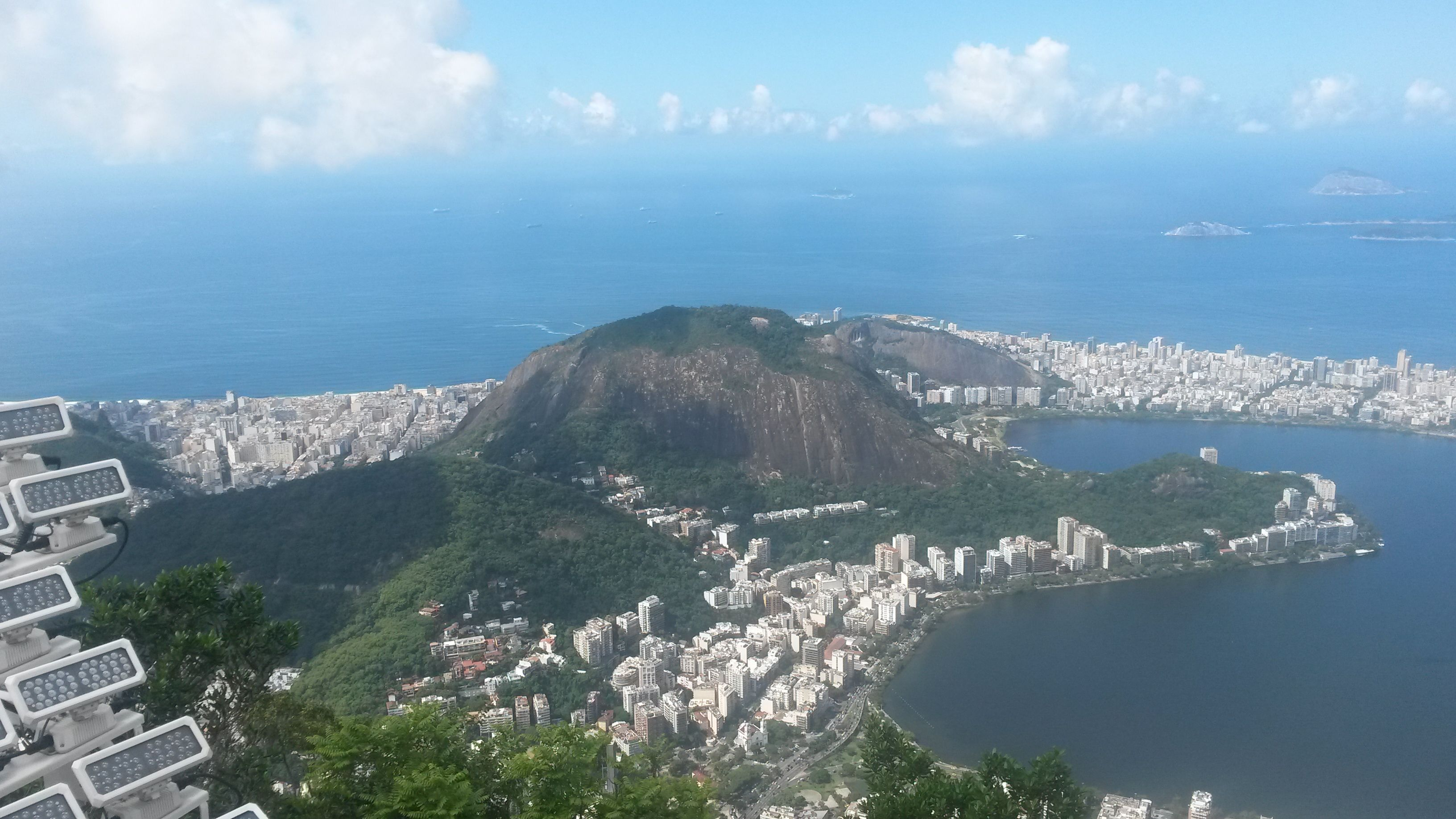 Incredible view of Rio de Janeiro from the balcony of Christ.