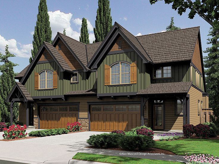 Love the craftsman vibe home design pinterest for Cool house plans duplex