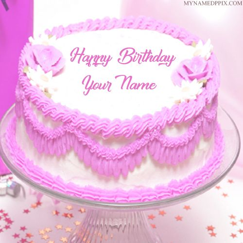 Write Sister Name Birthday Wishes Beautiful Rose Cake Pics Write