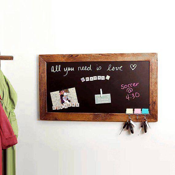 Magnetic Chalk Board Chalkboard Message Center Magnet Bulletin
