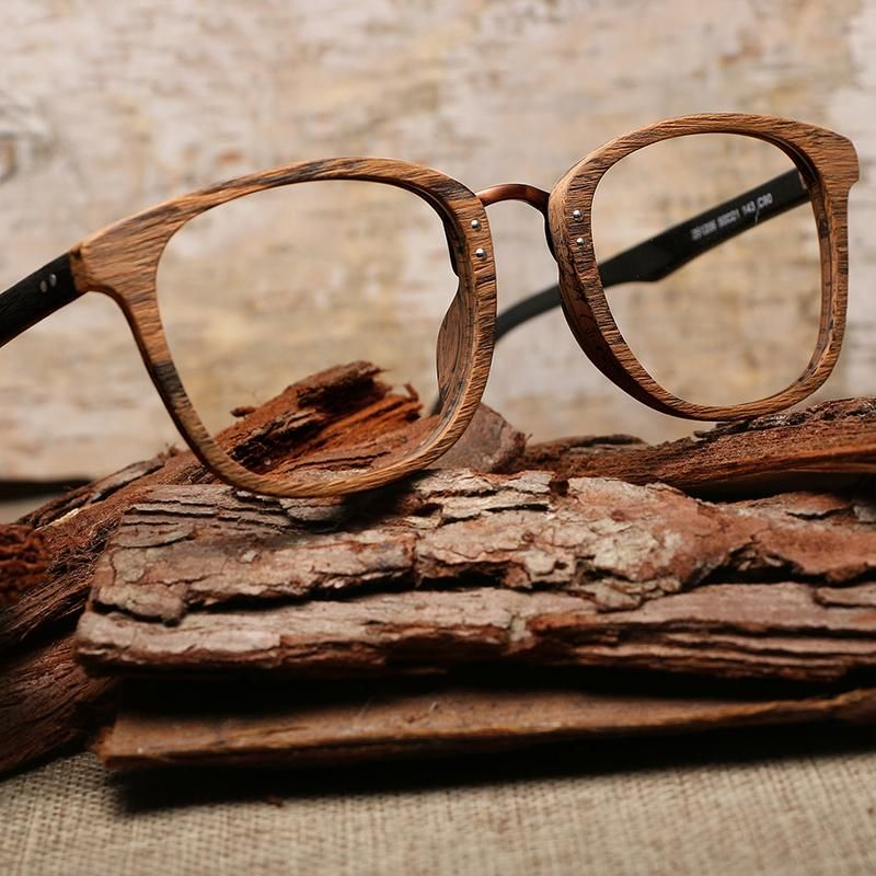 a67d2da1633c Men Women Myopia glasses Wooden Frame with Clear Lenses Brand Design  Eyeglass - Sale! Up to 75% OFF! Shop at Stylizio for women's and men's  designer ...