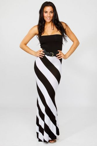 This Skirt Has Diagonal Lines And The Effect That It Gives Is It Make Her Look Shorter And Wider Maxi Dress Casual Dresses Womens Cocktail Dresses