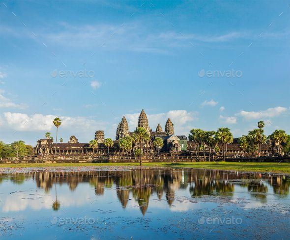 Angkor Wat by f9photos. Cambodia landmark Angkor Wat with reflection in water #AD #f9photos, #Wat, #Angkor, #Cambodia