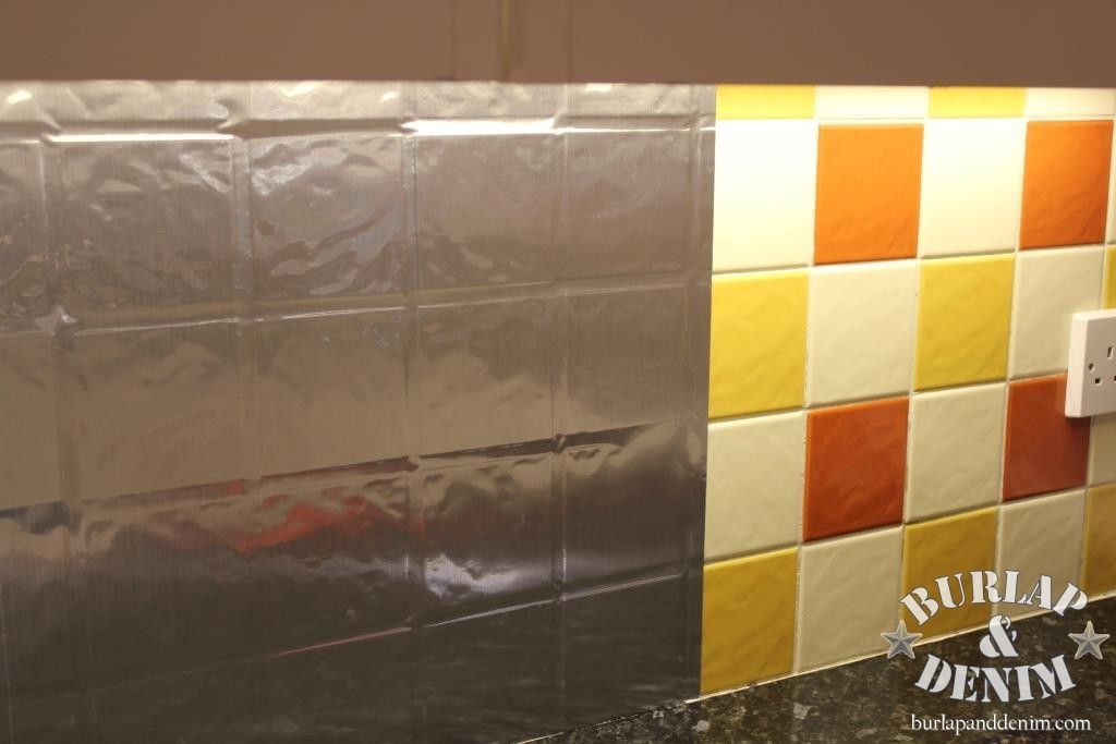Rental Rehab: 13 Removable DIY Kitchen Backsplashes: Makeover A Boring Tile  Backsplash With Contact Paper