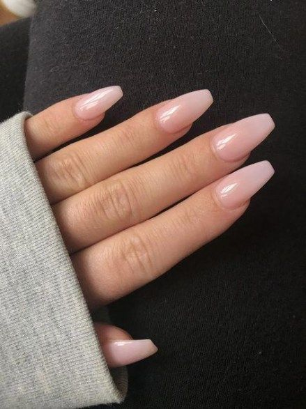 49+ Ideas For Nails Acrylic Short Coffin Natural