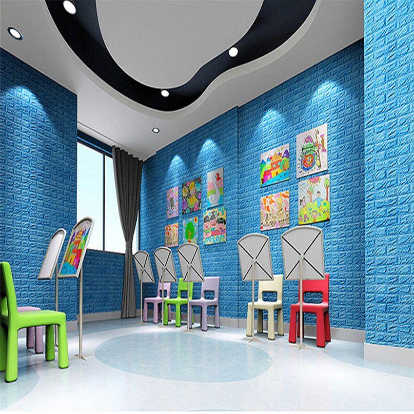 pe foam 3d wallpaper diy wall stickers wall decor embossed on wall stickers 3d id=84362