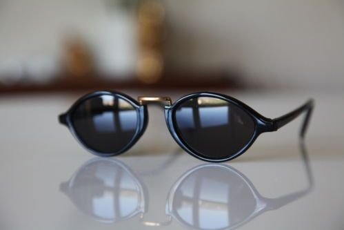 Vintage Cat Eye Sunglasses Gold/ Black/ Dark Lenses