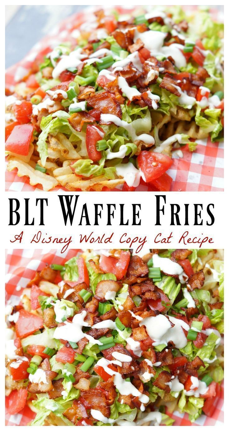 Blt waffle fries recipe easy appetizer recipes easy