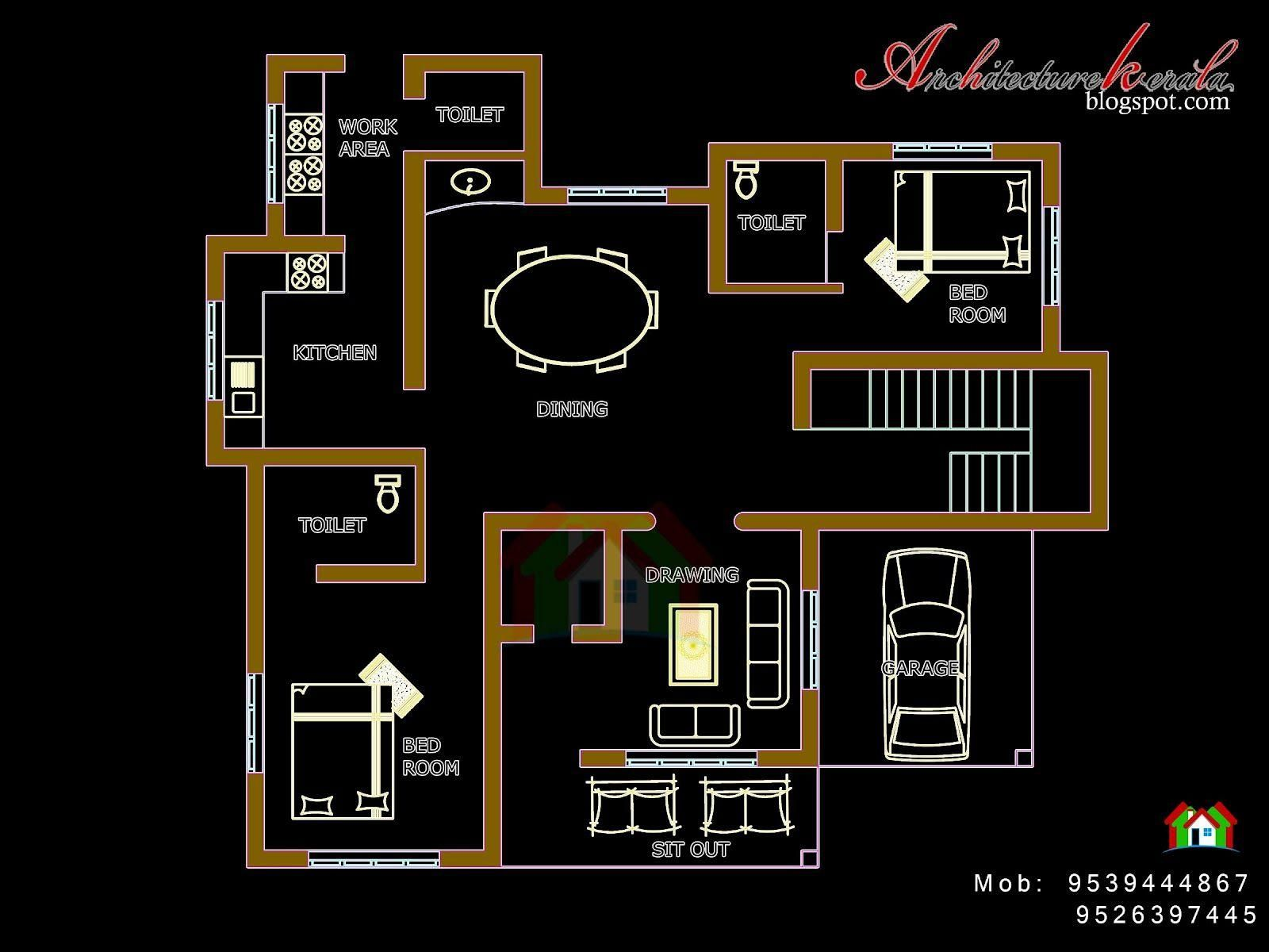 38 Plan Maison Kerala Indian House Plans Kerala House Design Bedroom House Plans