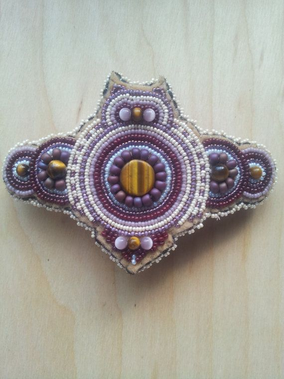 Beaded Owl Hair Barrette by BakedAlaskanDesigns on Etsy, $75.00