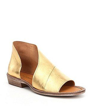 Free People Mont Blanc d'Orsay Leather Slip-On Sandals