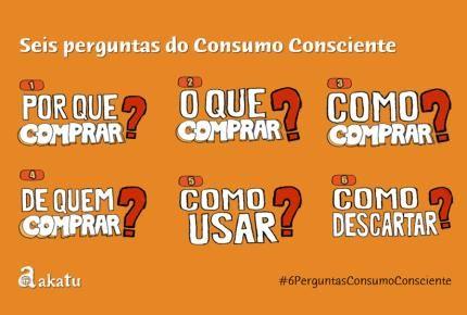 Seis Perguntas do Consumo Consciente Akatu