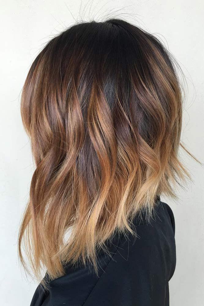 Ombre hair fur schulterlange haare