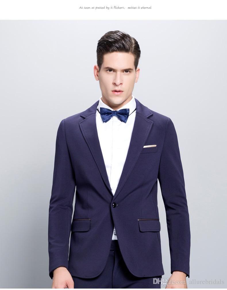 2015 High Quality Custom Made Generous Groom Tuxedos Grooms Men Best ...