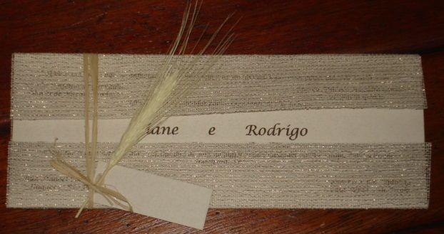 Convite de Casamento em tela escócia com terminação em palha da costa + trigo www.balgraphic.com.br Balgraphic muito mais que um convite: Qualité et originalité